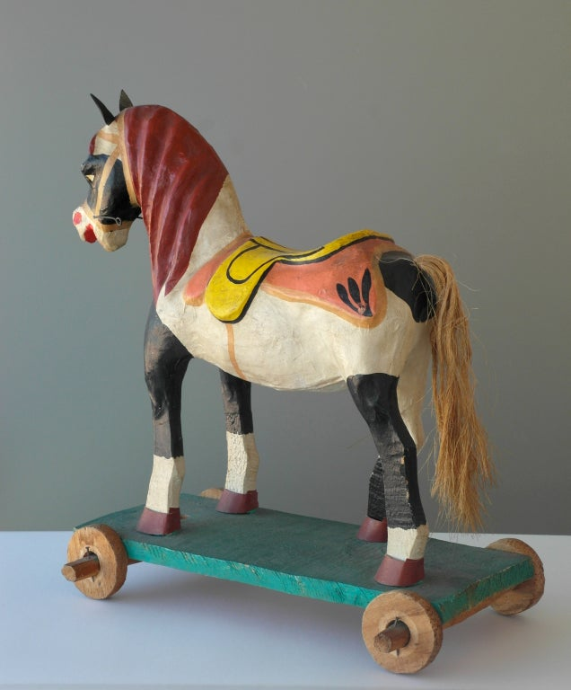 Mexican Polychrome Toy Horse image 4