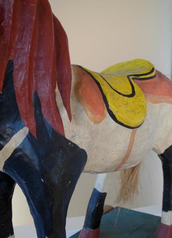 Mexican Polychrome Toy Horse image 8