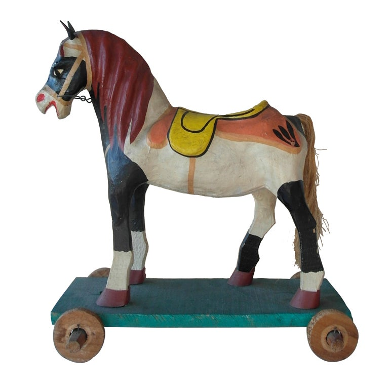 Mexican Polychrome Toy Horse