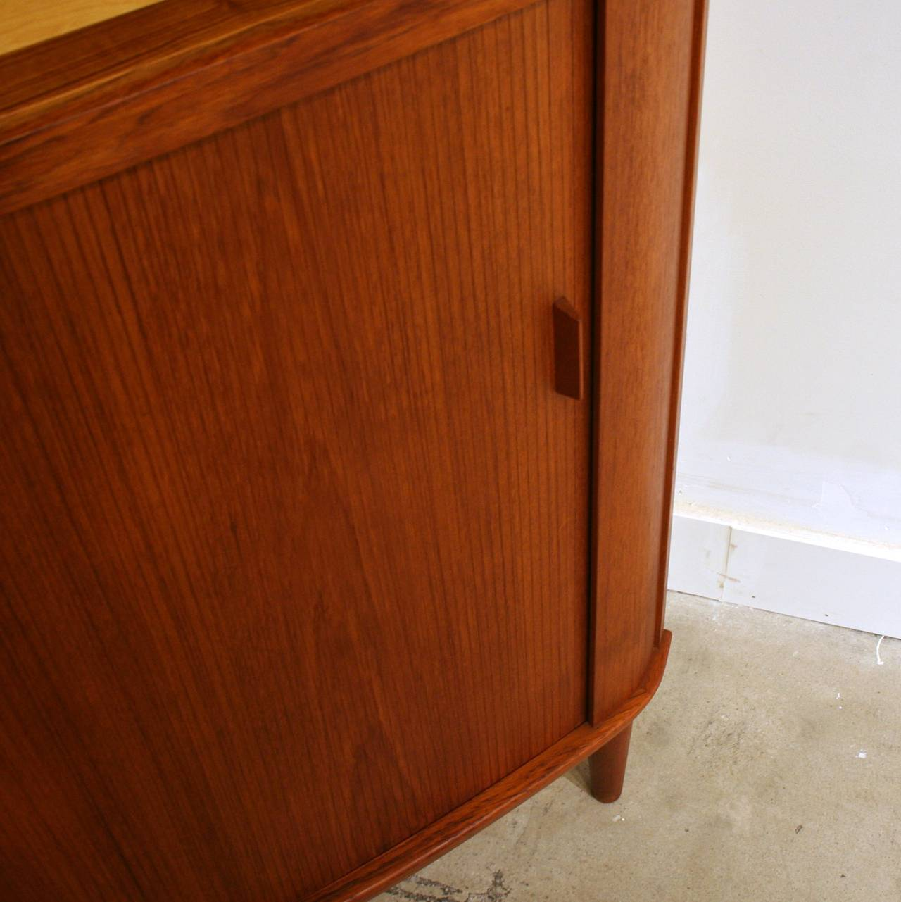 Vintage Corner Cabinet Vintage Danish Teak Corner Cabinet At 1stdibs