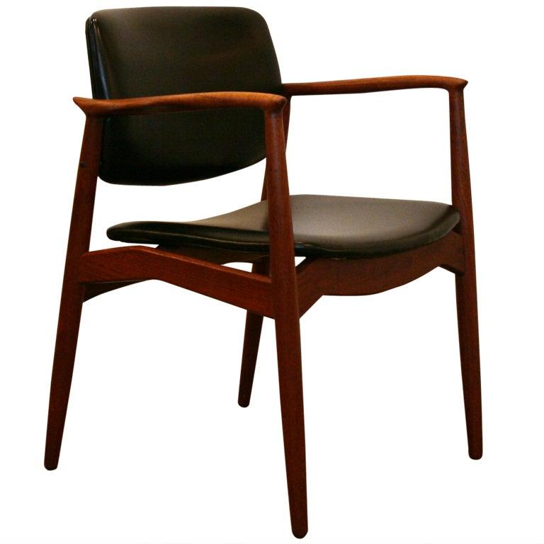Vintage Teak Captain S Chair By Erik Buck