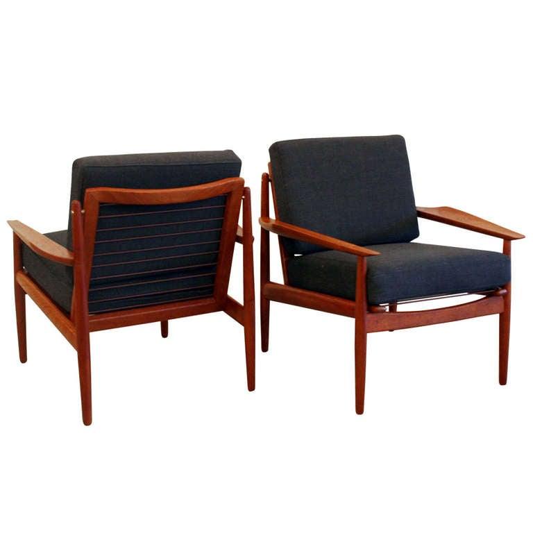 Vintage Teak Lounge Chair at 1stdibs