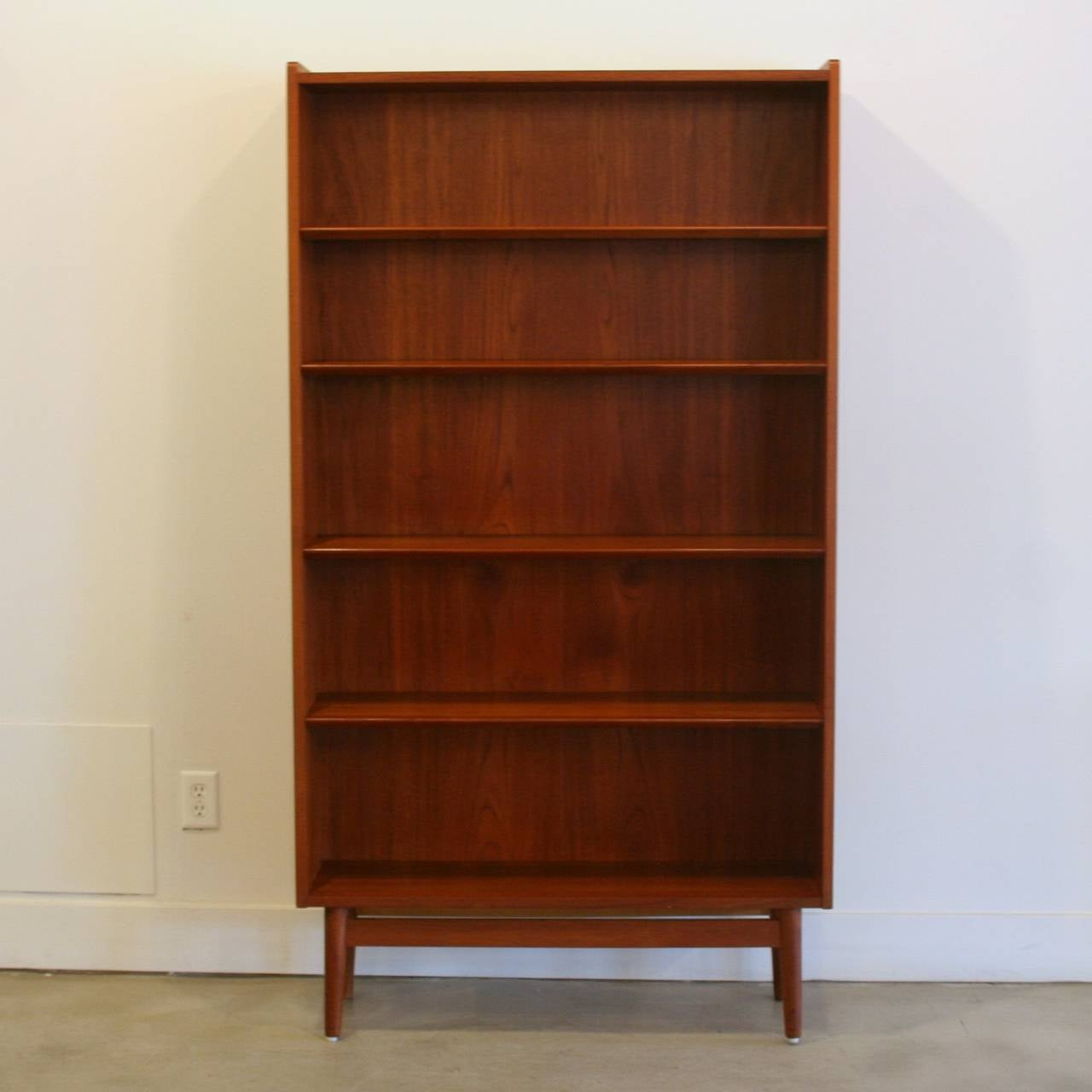 Vintage Danish Teak Bookcase At 1stdibs