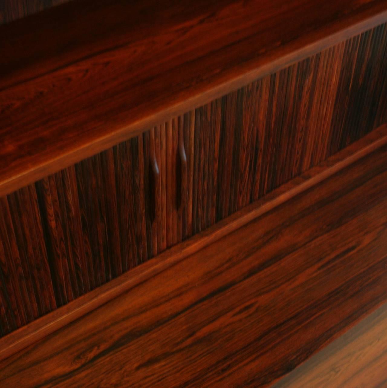 vintage danish rosewood bureau at 1stdibs. Black Bedroom Furniture Sets. Home Design Ideas