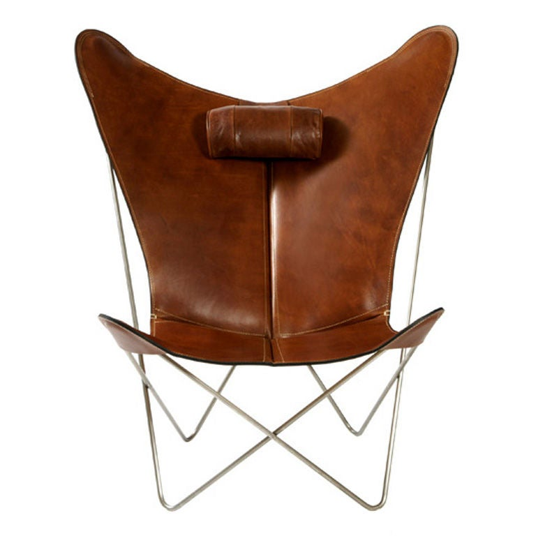 bkf prima butterfly chair in leather at 1stdibs. Black Bedroom Furniture Sets. Home Design Ideas