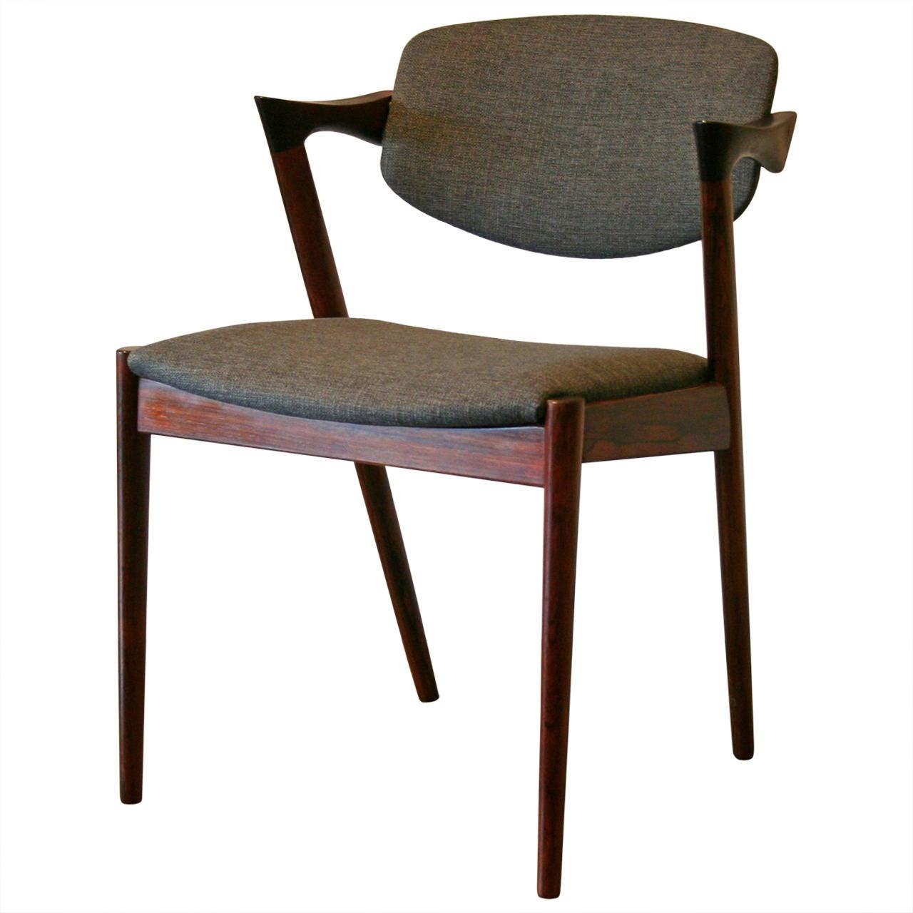 Danish rosewood dining chairs by kai kristiansen at 1stdibs - Kai kristiansen chair ...