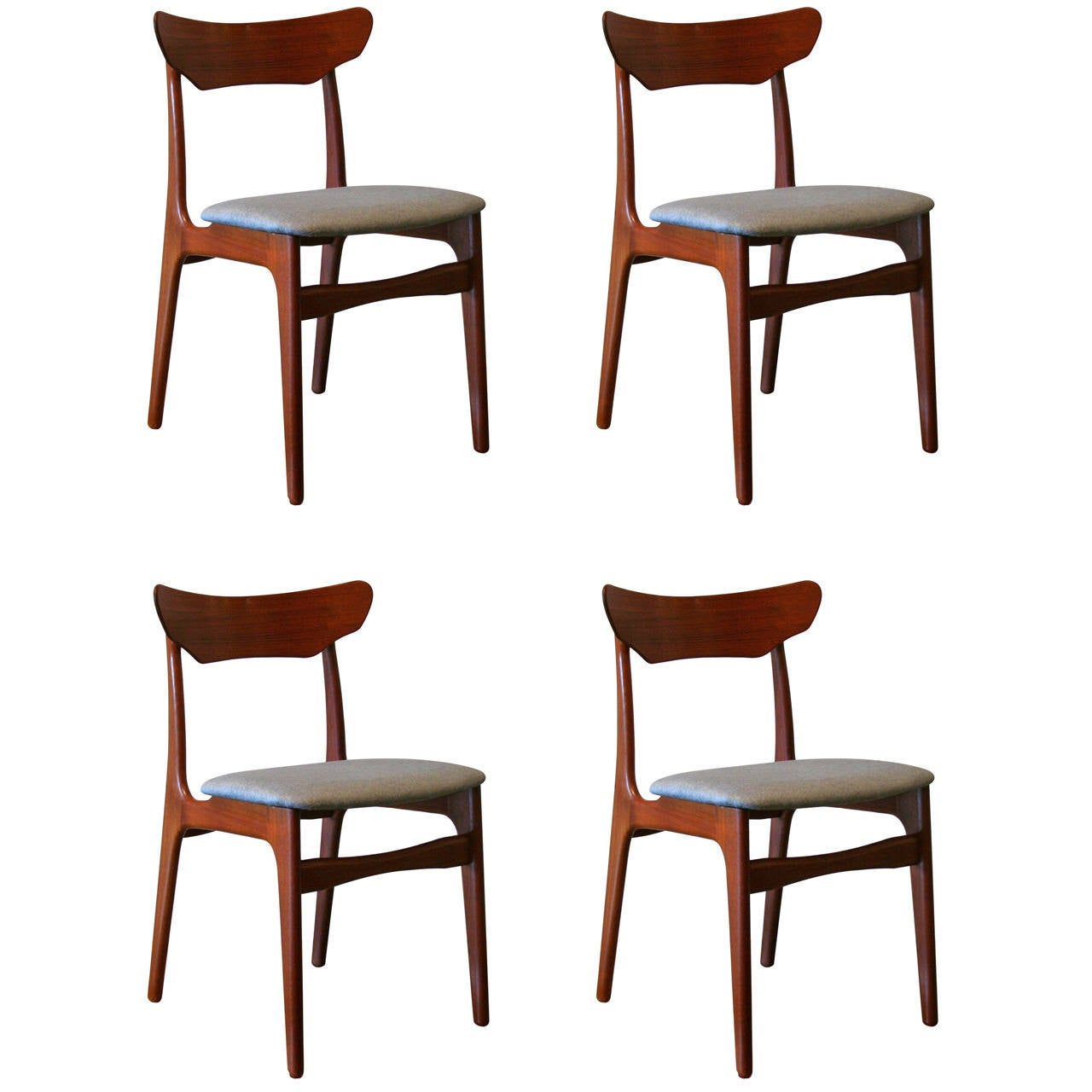 Vintage Danish Teak Dining Chairs at 1stdibs