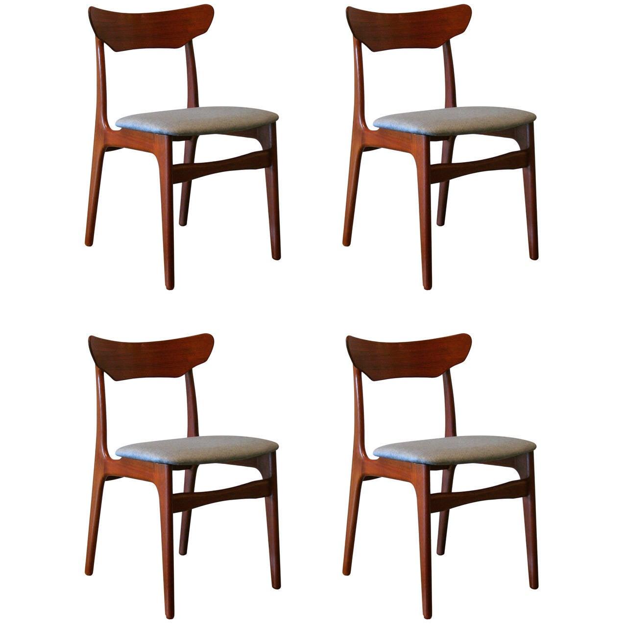 Vintage danish teak dining chairs at stdibs