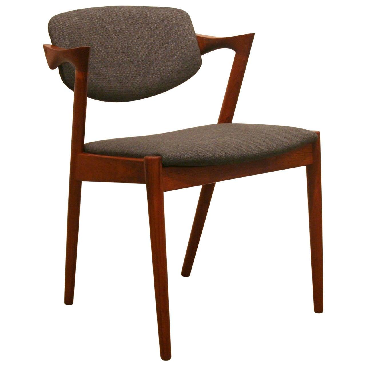 Vintage danish teak dining chair at stdibs