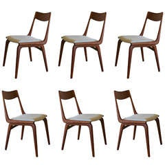 Set of Six Vintage Teak Dining Chairs by  Erik Christensen
