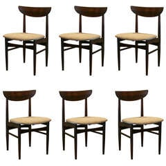 Set of 6 Vintage Rosewood Dining Chairs