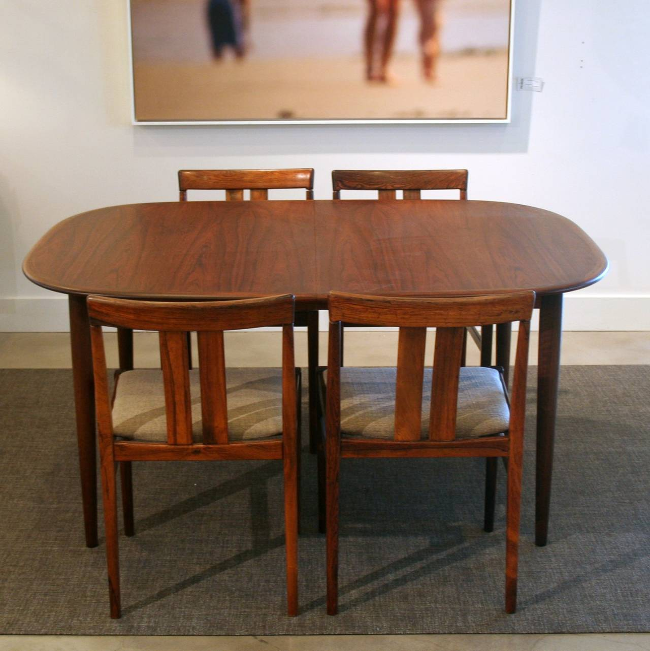 vintage danish rosewood dining table with two leaves at 1stdibs