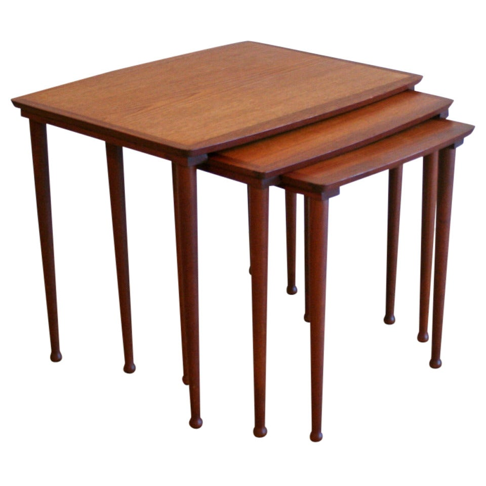 Antique Nesting Tables ~ Vintage teak nesting tables at stdibs
