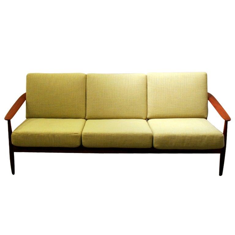 vintage danish teak sofa at 1stdibs