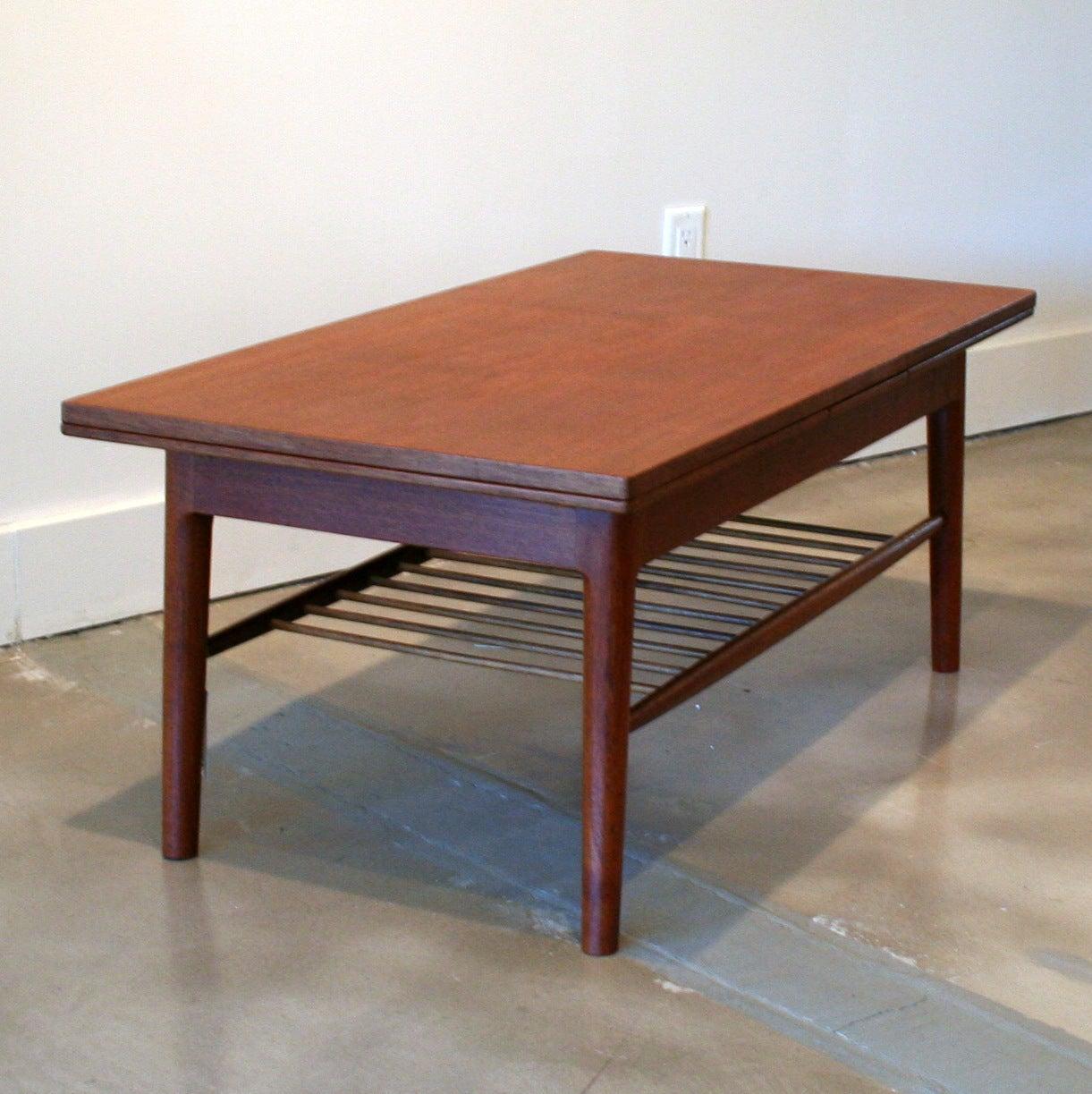 Vintage Danish Teak And Oak Coffee Table At 1stdibs