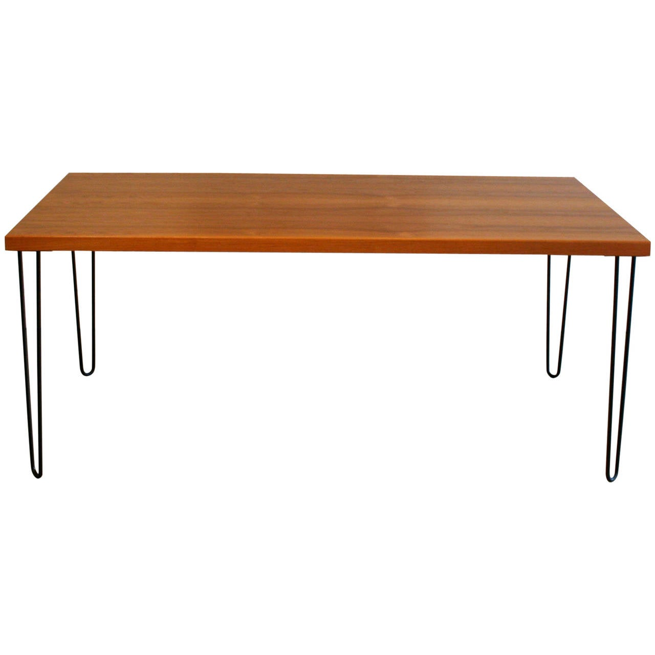 this teak dining table with metal legs is no longer available