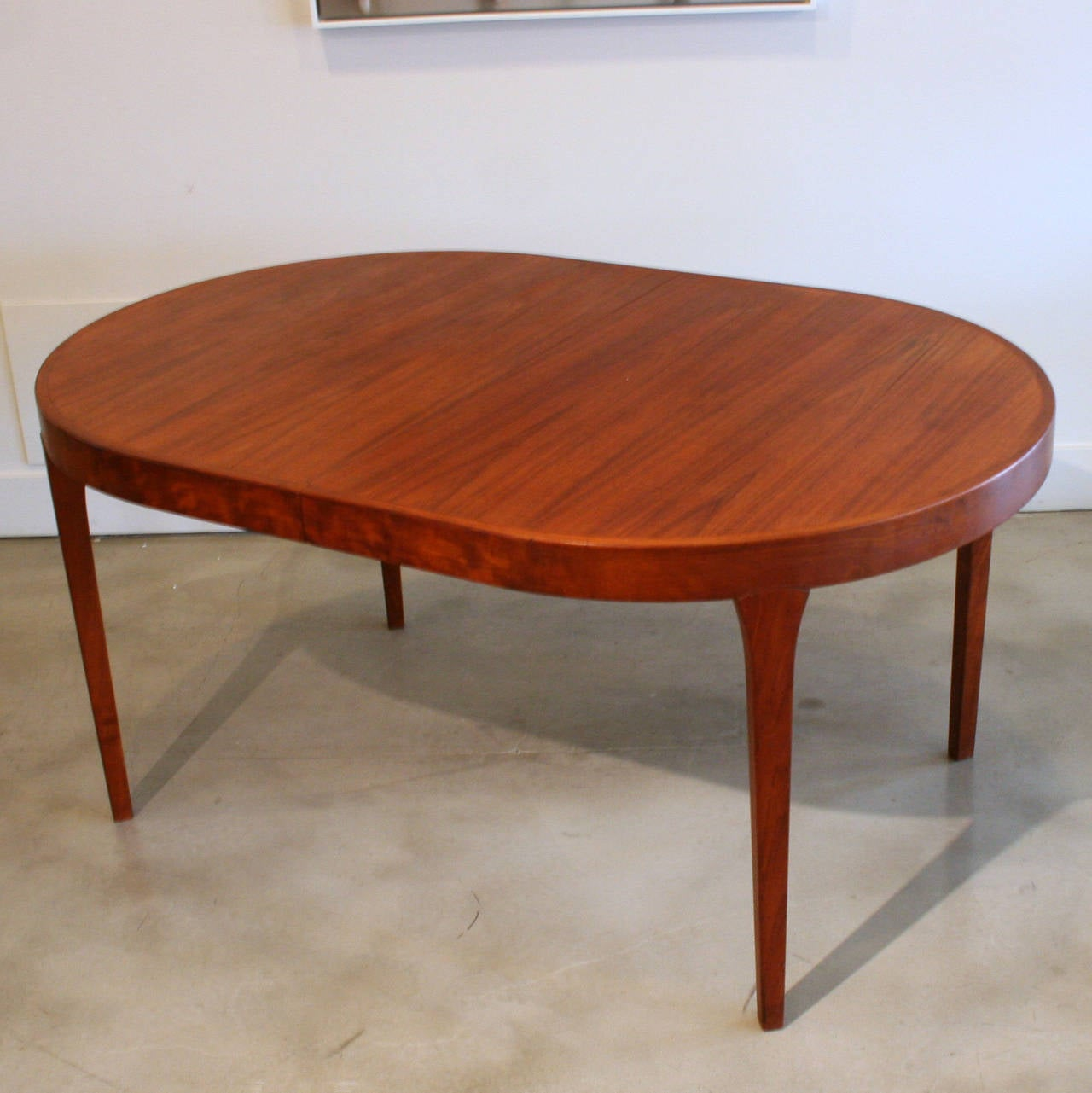 Vintage Danish Oval Teak Dining Table At 1stdibs