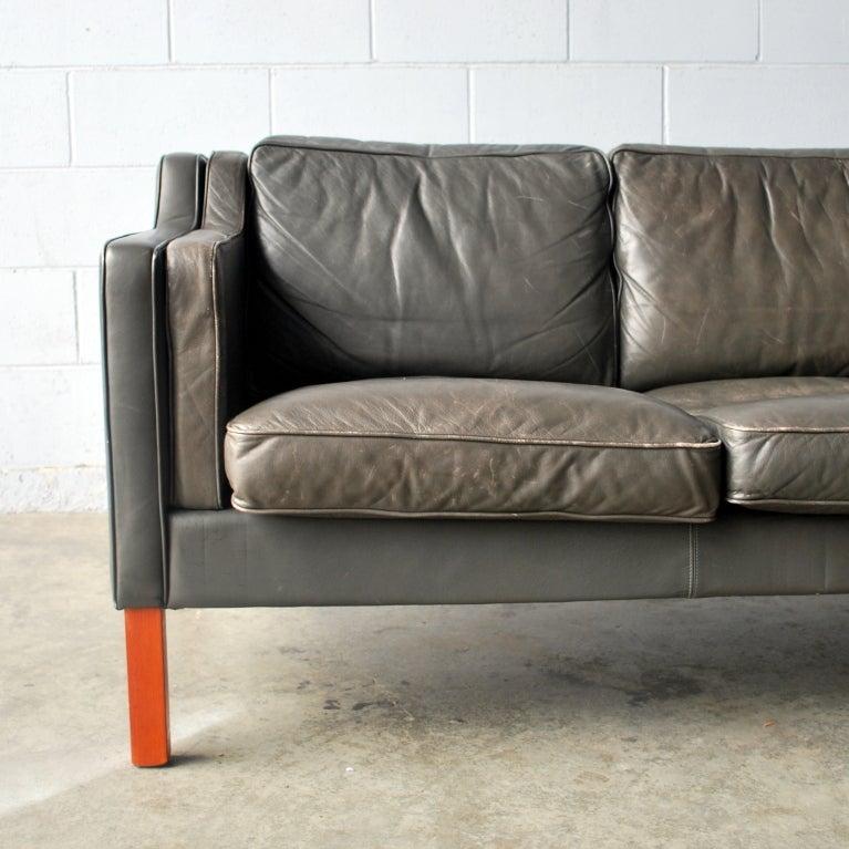 Vintage Danish Leather Sofa At 1stdibs