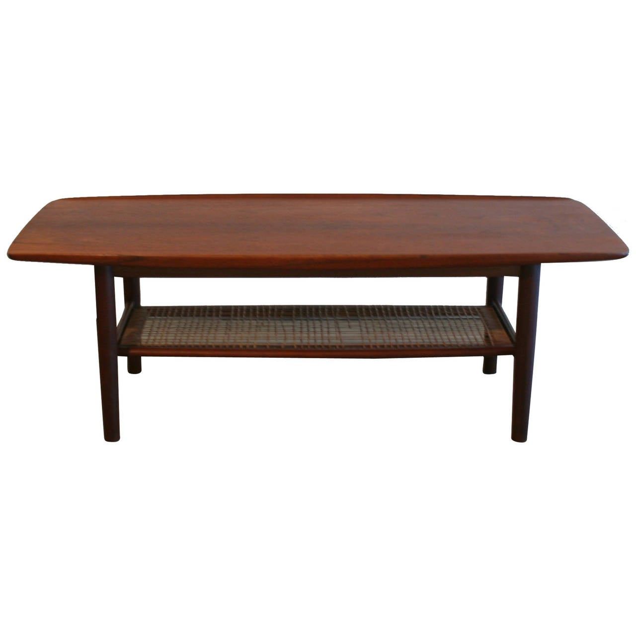 Vintage danish teak and cane coffee table at 1stdibs - Archives departementales 33 tables decennales ...