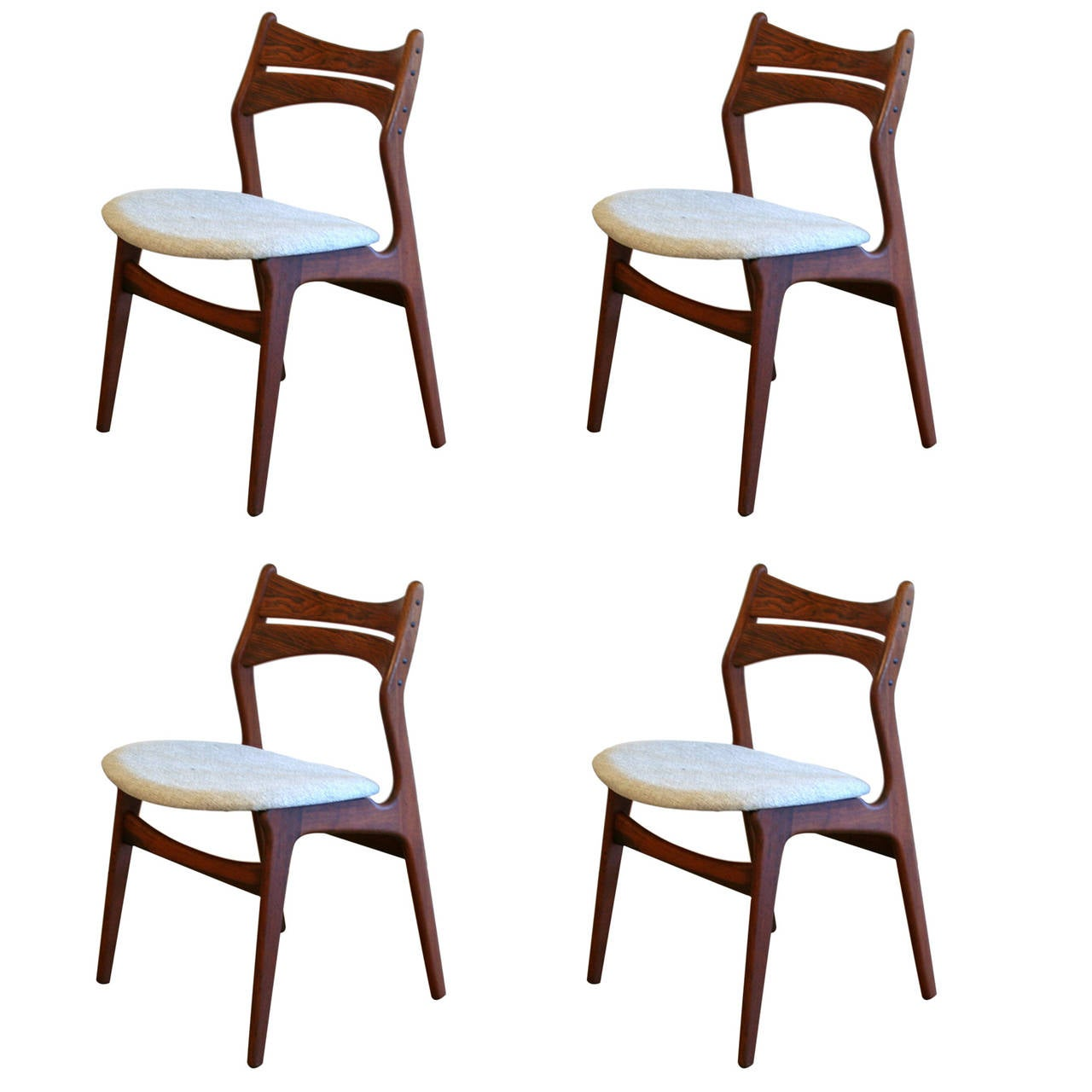 Vintage Rosewood Dining Chairs Set Of Four At 1stdibs