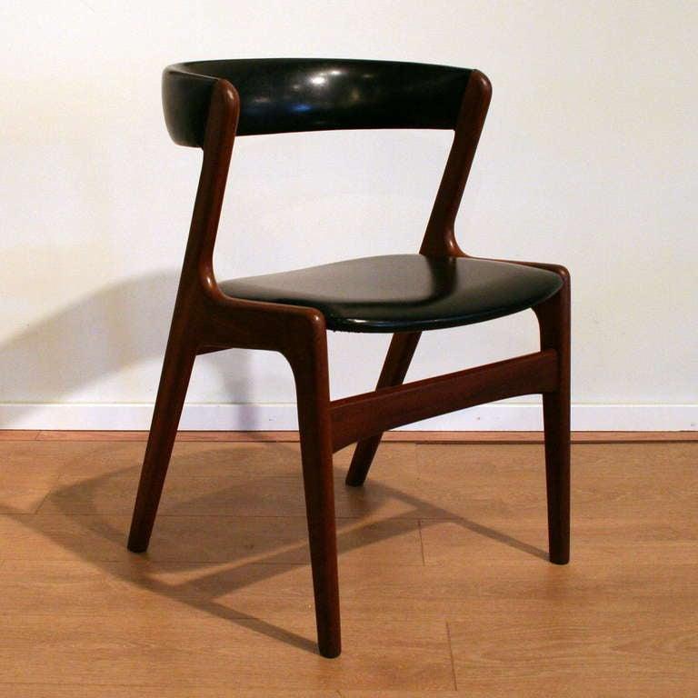 Set of 6 Vintage Danish Teak Dining Chairs at 1stdibs
