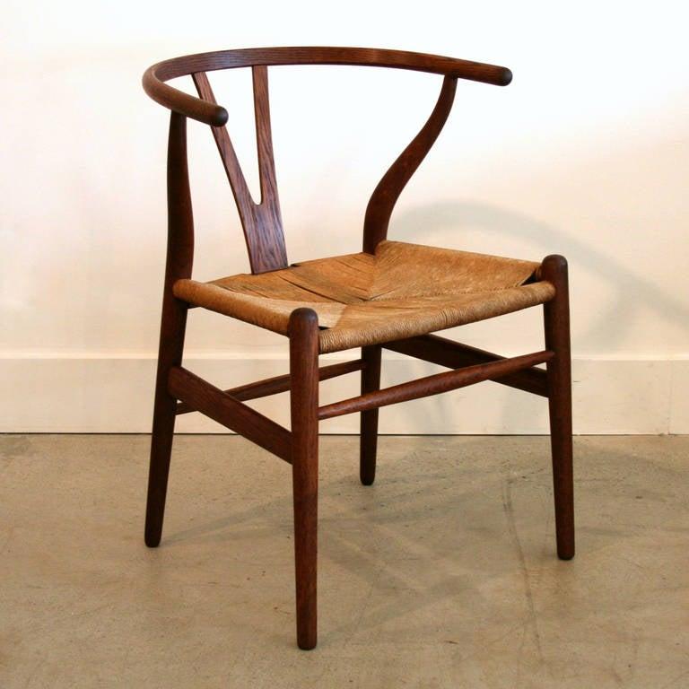 Vintage danish oak wishbone chair at 1stdibs - Wishbone chair canada ...