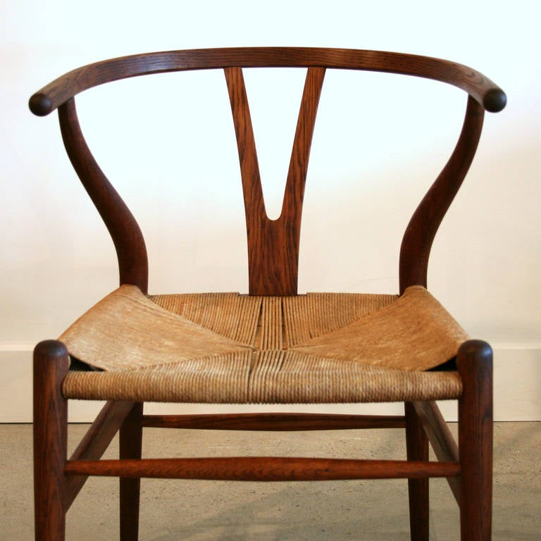 vintage danish oak wishbone chair at 1stdibs. Black Bedroom Furniture Sets. Home Design Ideas