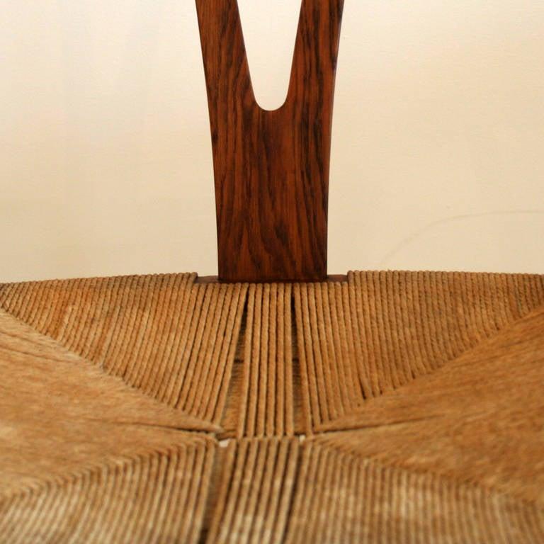 vintage danish oak wishbone chair image 4. Black Bedroom Furniture Sets. Home Design Ideas