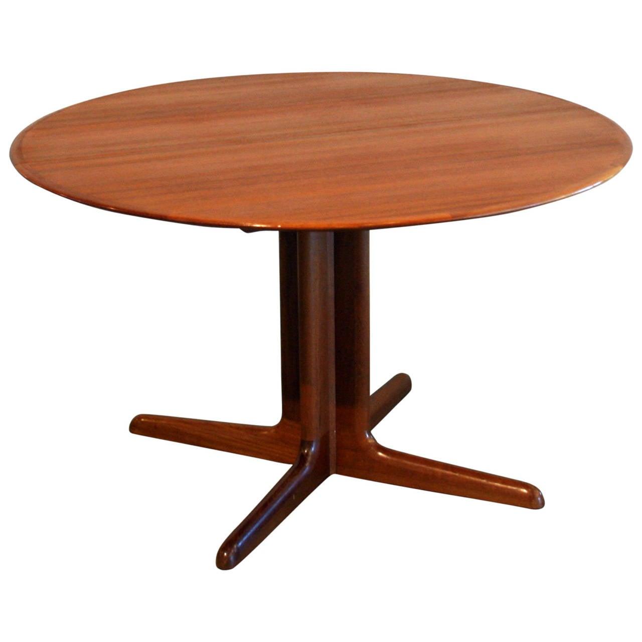 Teak Pedestal Dining Table Swedish Mid Century