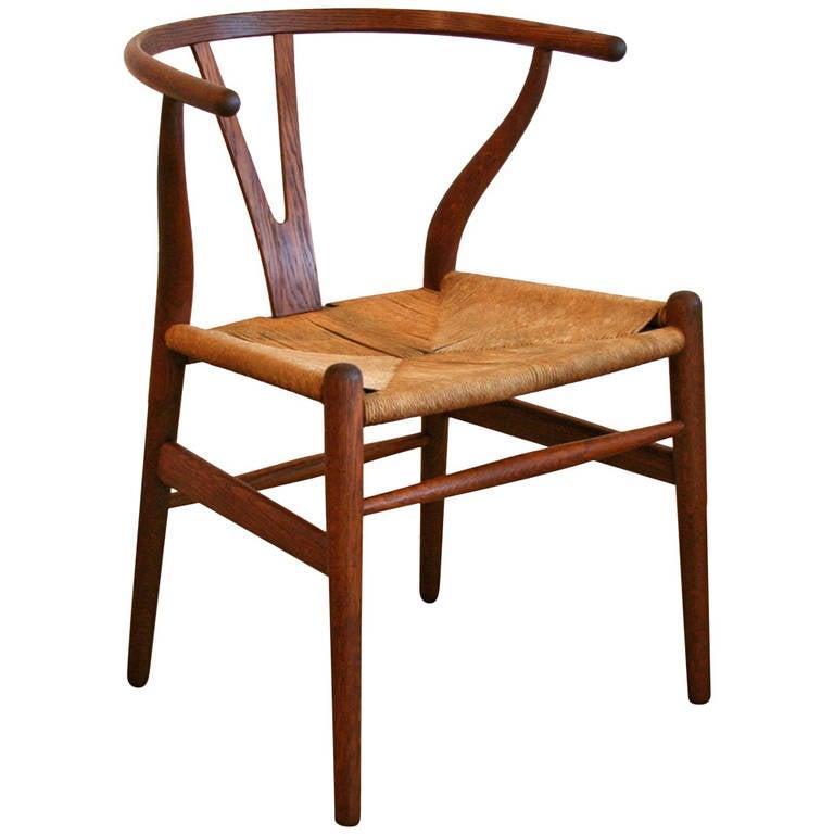 Vintage danish oak wishbone chair - Wishbone chair canada ...
