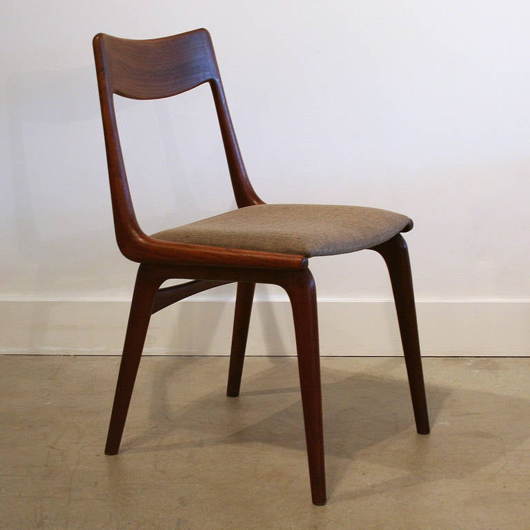 Vintage Danish Teak Dining Chairs Set of 4 at 1stdibs