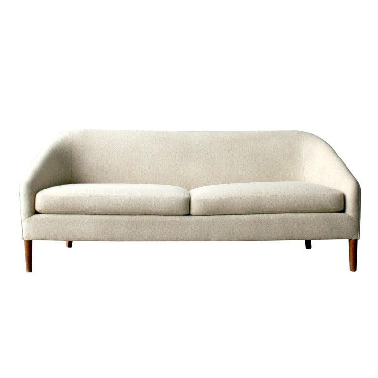 vintage danish wool sofa at 1stdibs