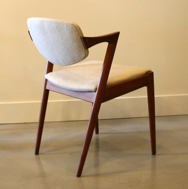 Danish modern walnut dining chairs - Vintage Danish Teak Dining Chairs By Kai Kristiansen At