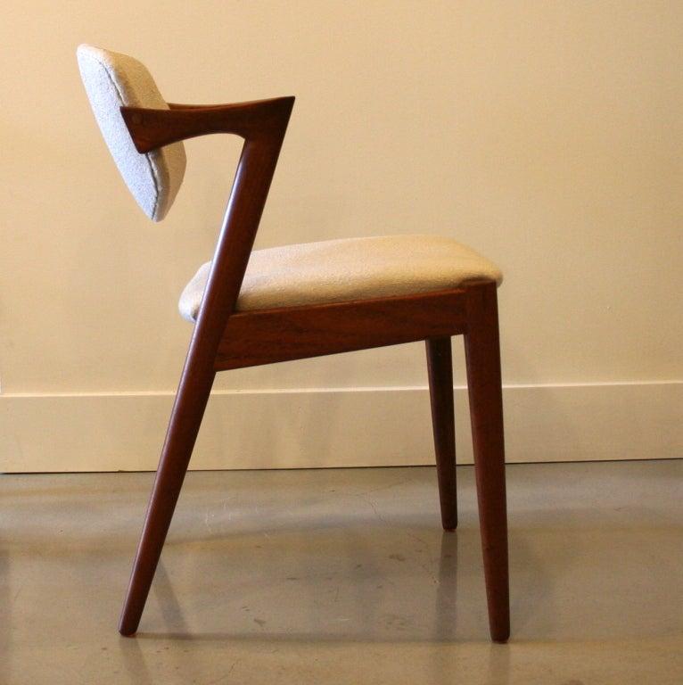 Vintage danish teak dining chairs by kai kristiansen at for Danish furniture
