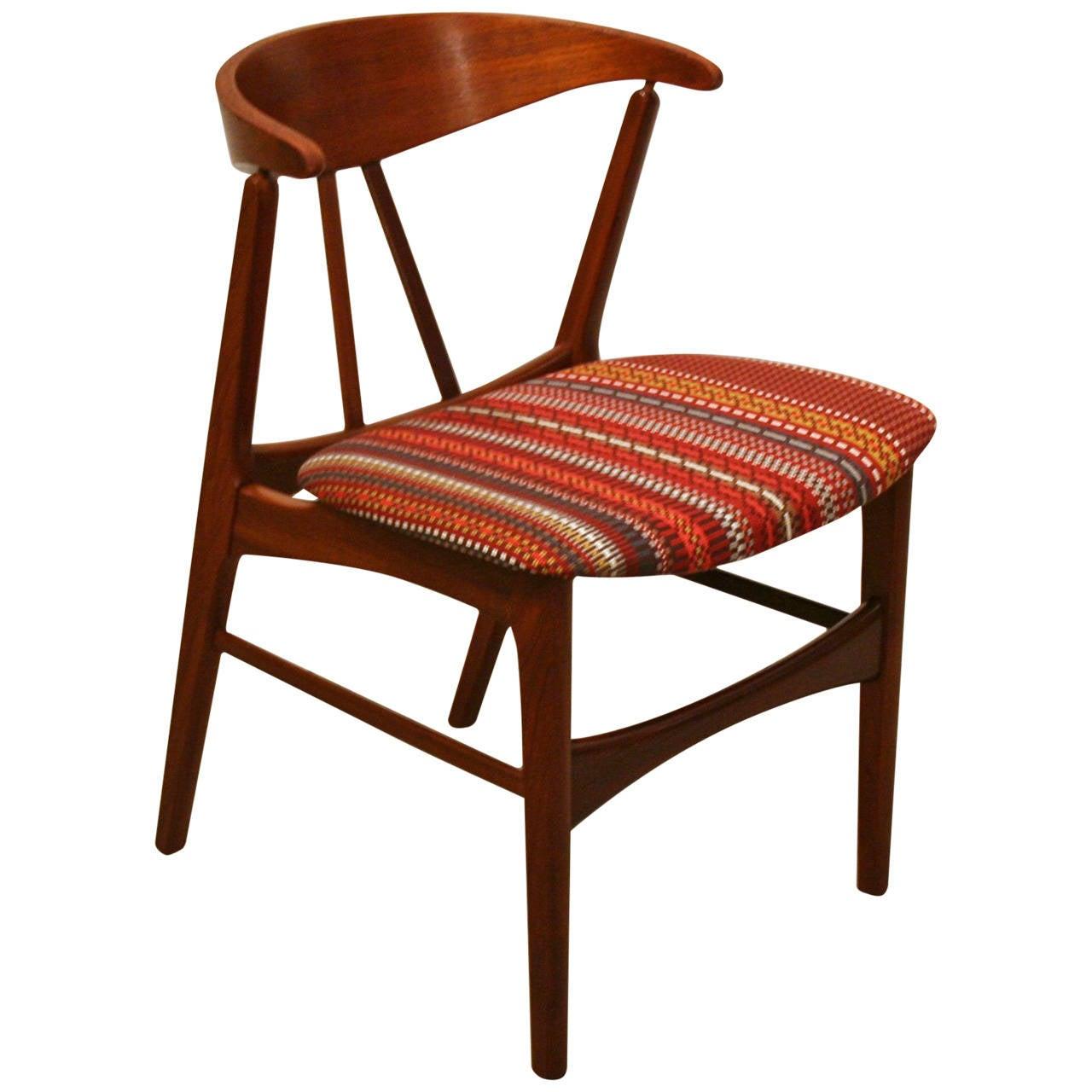 Vintage Teak Accent Chair at 1stdibs