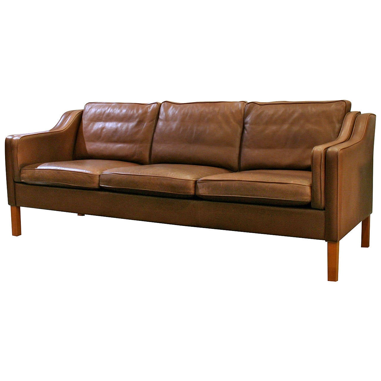 Vintage Danish Leather Sofa At 1stdibs