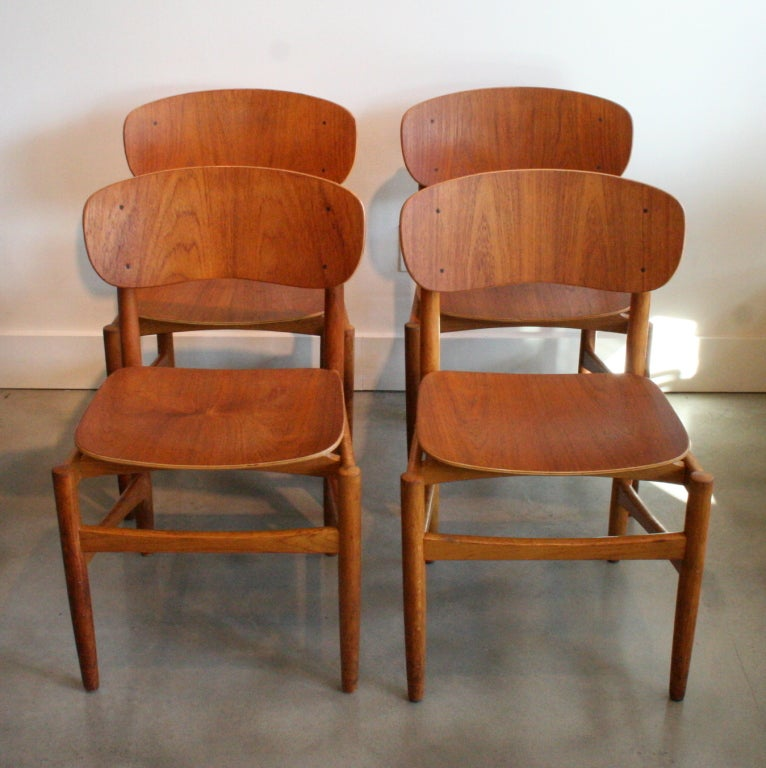 Vintage danish teak dining chairs at 1stdibs for Danish dining room chairs