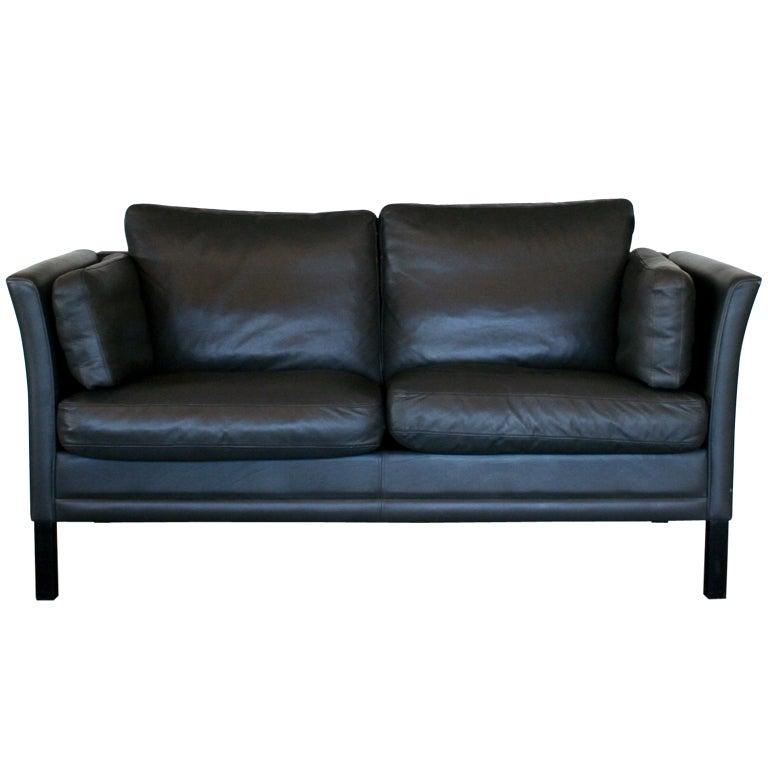 Vintage Danish Leather 2 Seat Sofa At 1stdibs