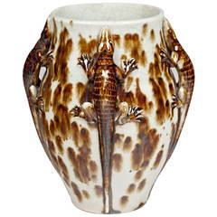 Fabulous Primavera French Deco Lizard Vase
