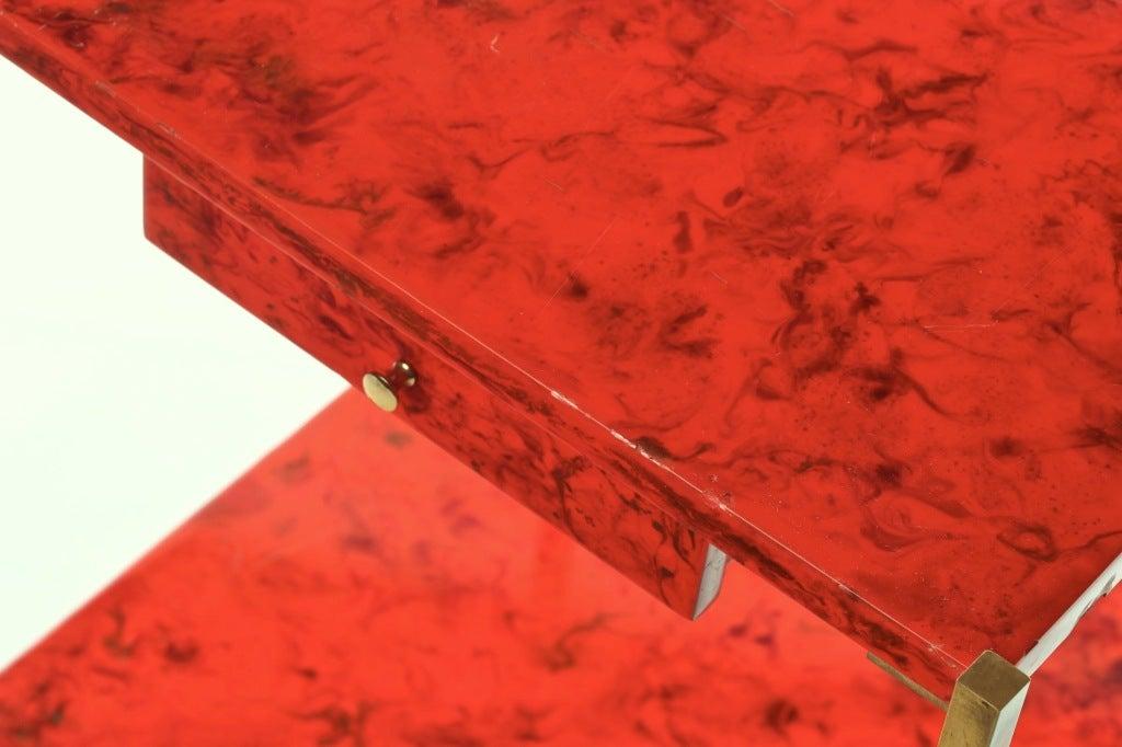Charles et fils orange lacquered side table at 1stdibs for Table franco et fils