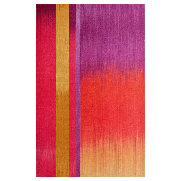 "Ptolemy Mann's ""Violet Red Yellow Ikat"" Textile Art"