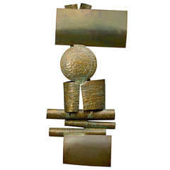 1969 Steel & Copper Sculpture by Ben Goo from the Frank Lloyd Wright House