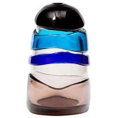 Luciano Gaspari Murano 'Sasso' Glass Vase