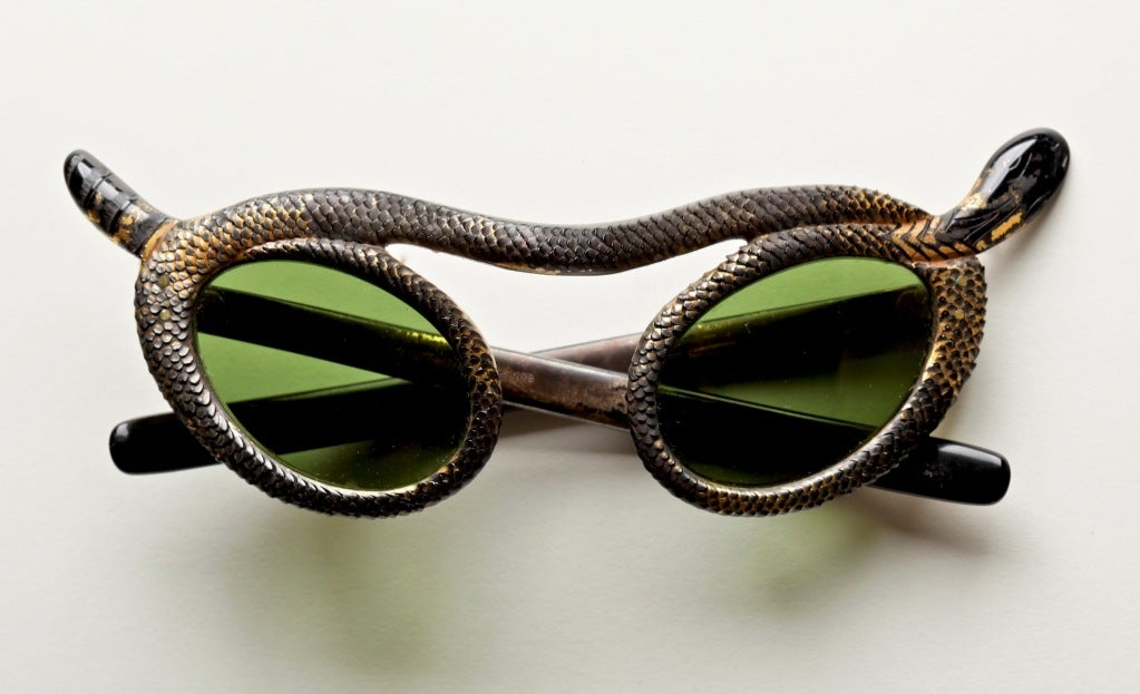 Rare French 50's Snake Sunglasses by Paulette Guinet image 2