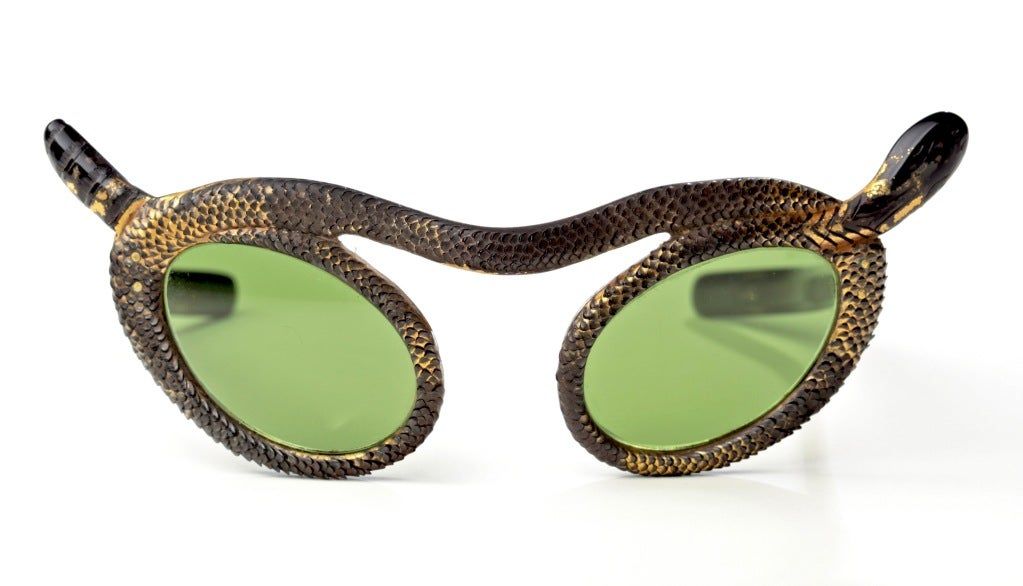 Rare French 50's Snake Sunglasses by Paulette Guinet image 3