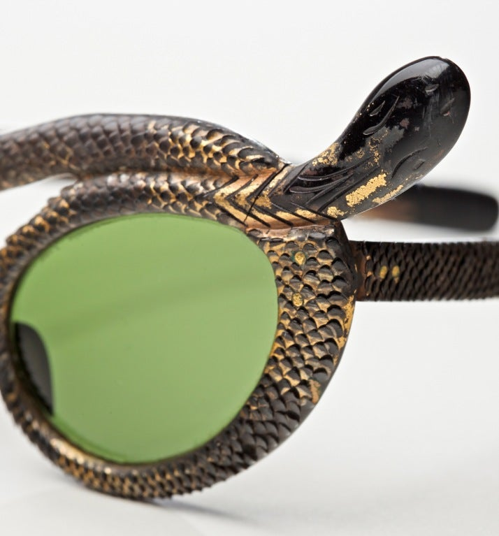 Rare French 50's Snake Sunglasses by Paulette Guinet image 4