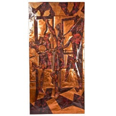 "Massive Copper Wall Panel of ""Les Trois Danseuses"" after Picasso"