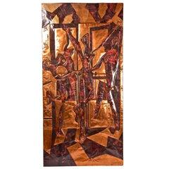 """Picasso Copper Wall Sculpture of """"Les Trois Danseuses"""""""