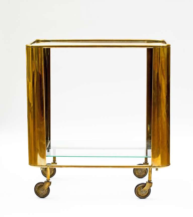 1930 S Art Deco Brass Bar Cart At 1stdibs