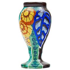 French Art Nouveau Ceramic Vase by Louis-Auguste Dage